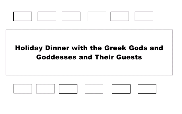 dinner seating plan template - the challenge seat the greek gods and goddesses at a