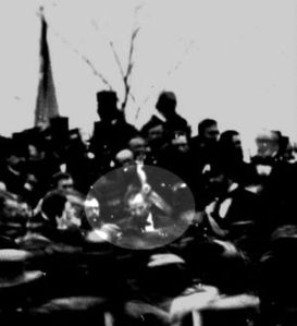 Photo of Lincoln delivering Gettysburg Address- (www.wikipedia.org)