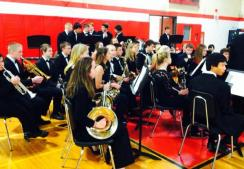 Wamogo Band performs at the annual Veteran's Day Breakfast.