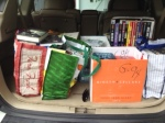 Used books istuffed n the back of my car