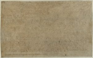 Copy of the Magna Carta on display at the British Library: Chttp://www.bl.uk/collection-items/magna-carta-1215