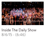 "Audience on the last night of ""The Daily Show"" as part of the final walk-through"