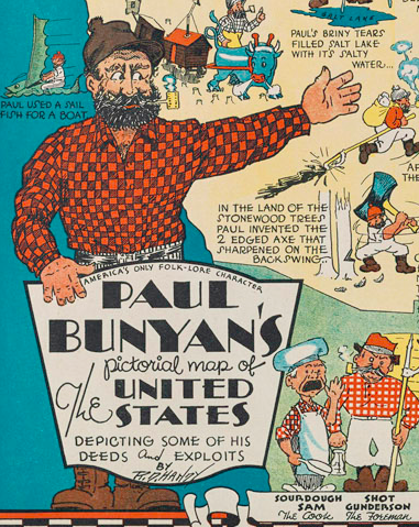 A Paul Bunyan Story Map Becomes A Lesson In Racism Used Books In - Paul bunyan in us map